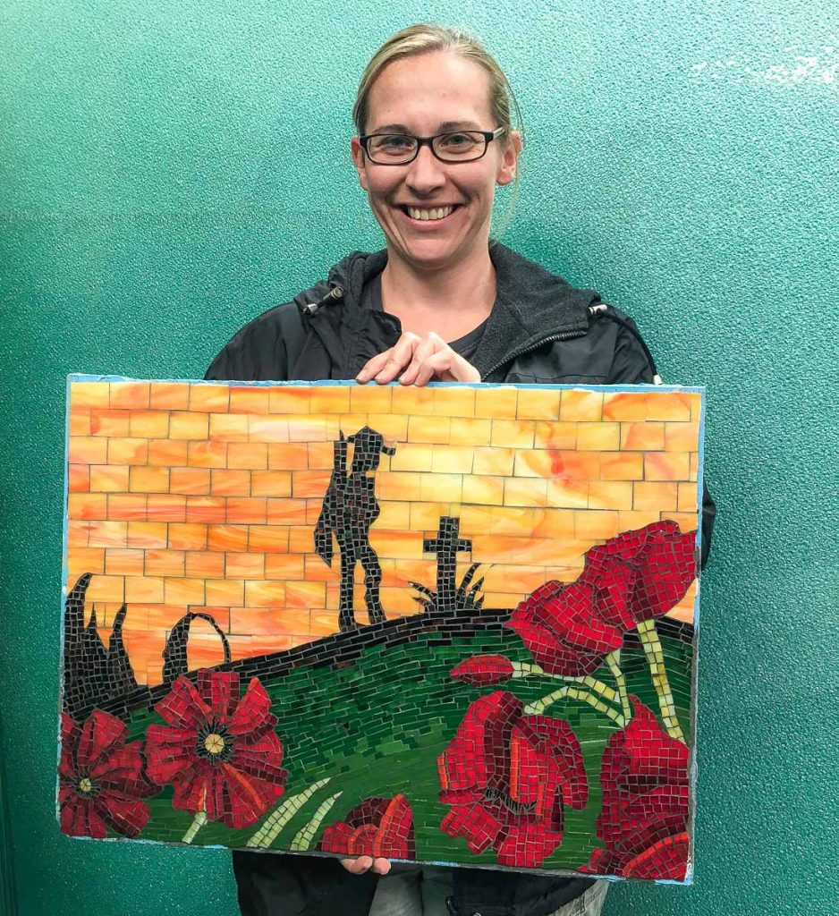 Artist: Amanda Lambert  ANZAC mosaic