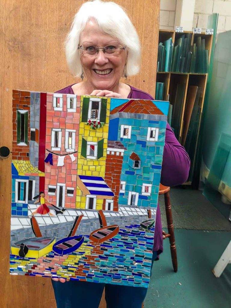 Glenys Henrich and her Venice scene