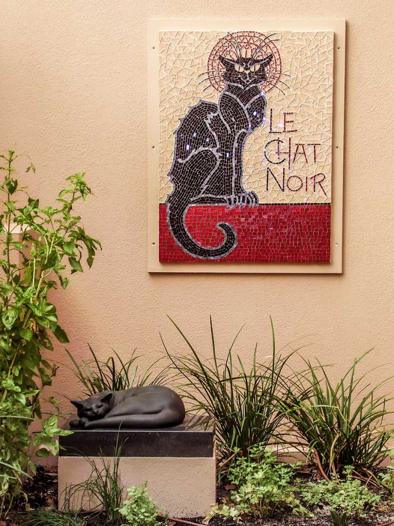 Le Chat Noir Memorial Memorial to a much loved pet Private Commission