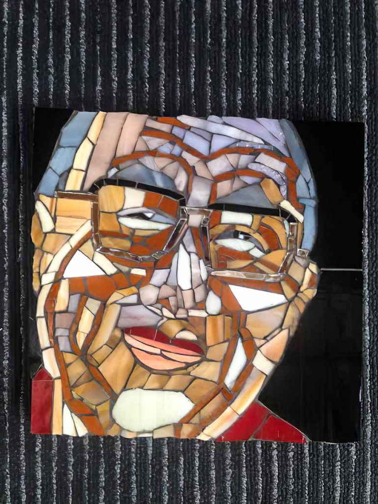 Lesley Shack's portrait of the Dalai Lama