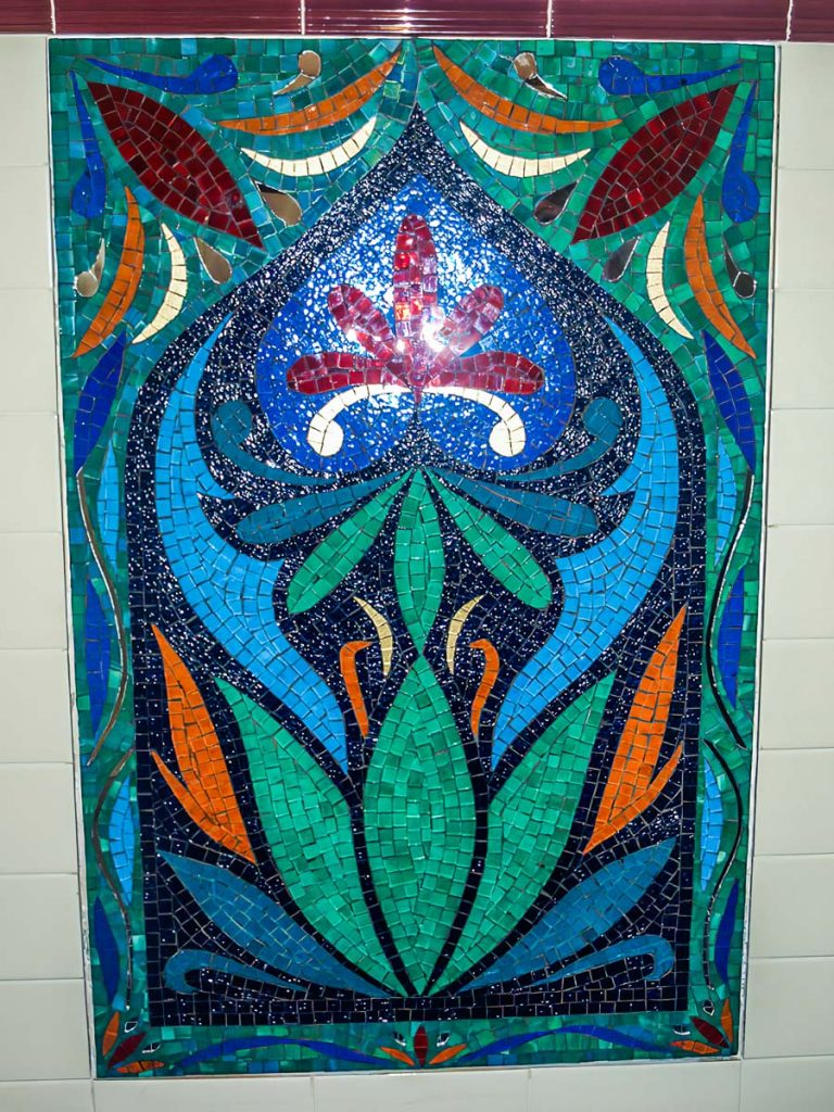 Moroccan Bathroom Feature Stained Glass Mosaic