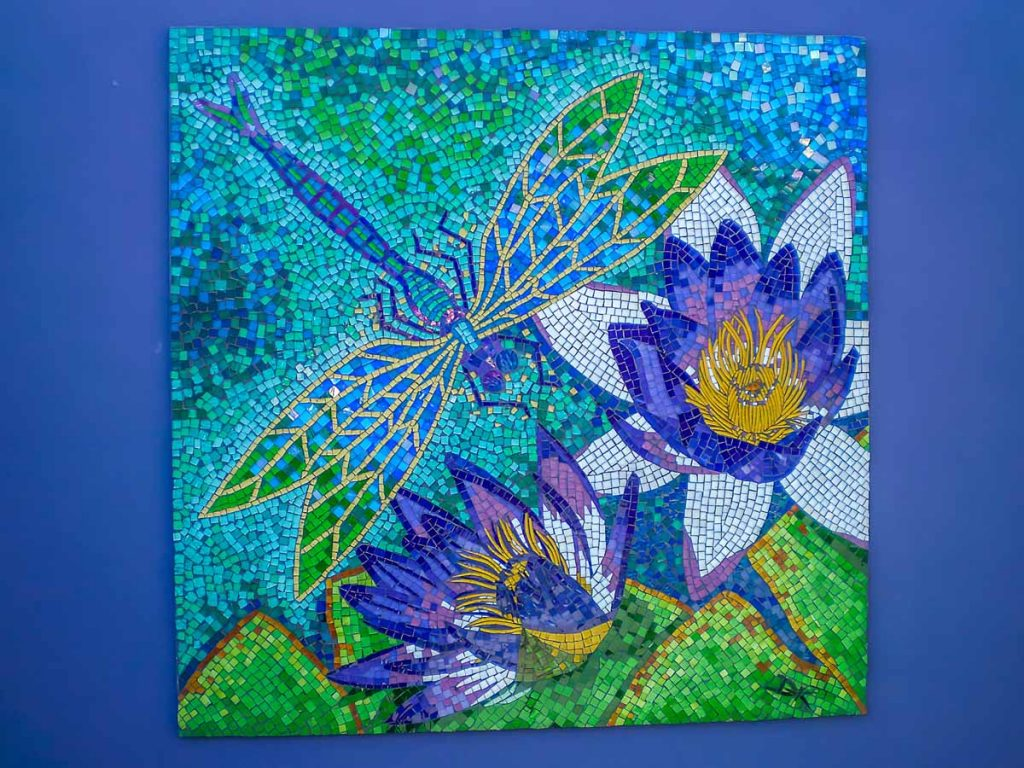 Dragon Fly and Water Lily Mosaic