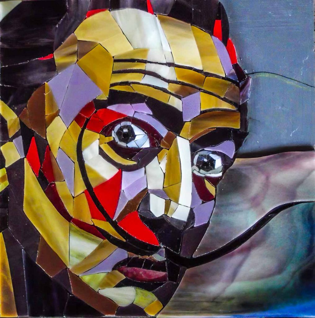 Artist: Sophie Dessons Her completed portrait of Salvador Dali