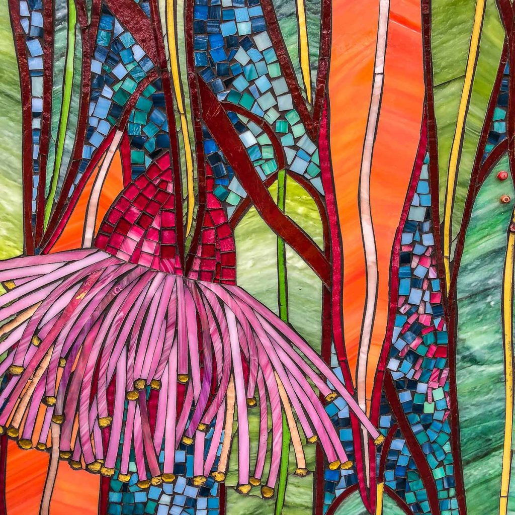 Detail of Flowering Gum mosaic