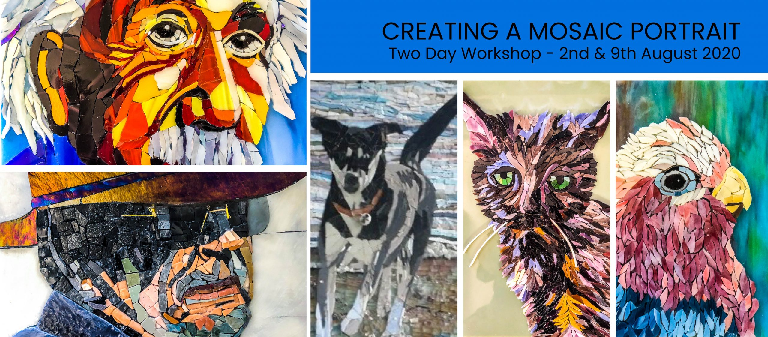 creating a mosaic portrait workshop