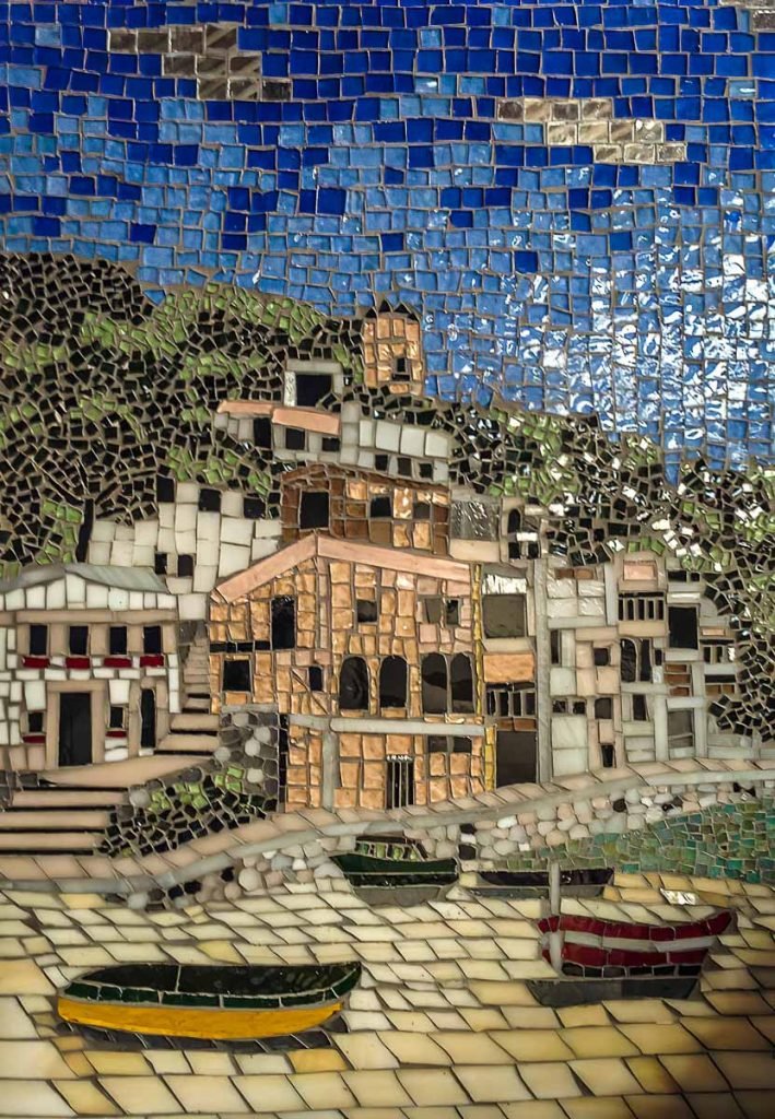 Artist: Glenys Heinrich Title: Greek Fishing Village