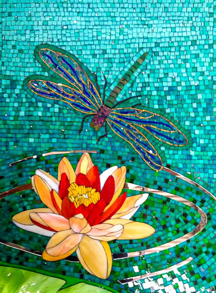 Anne Henson's Dragon Fly Mosaic
