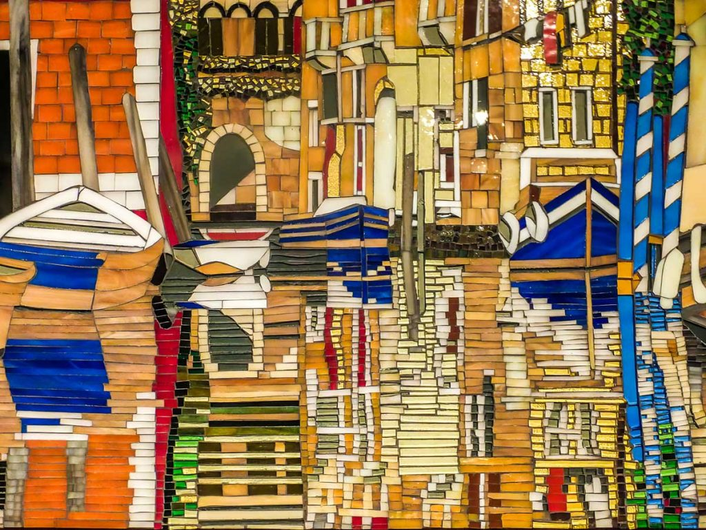 Reflecting on Venice Stained glass mosaic