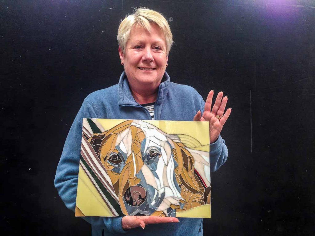 Di Gillespie's first portrait. A present for her husband's birthday of their beloved dog, Wiley
