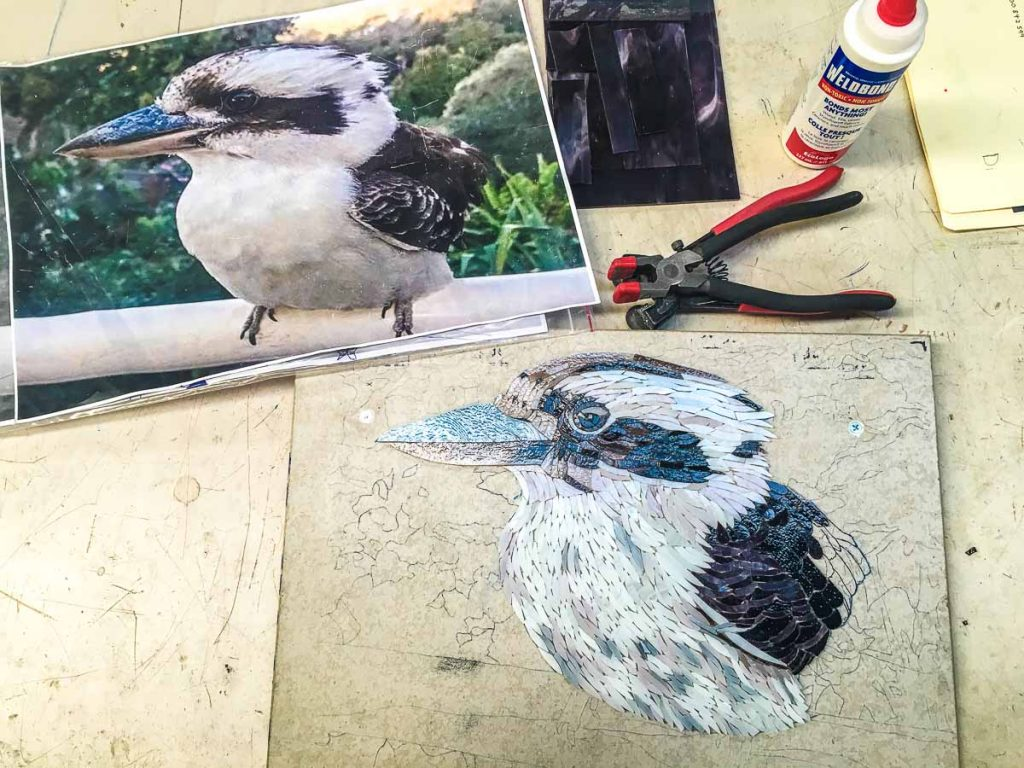 Di Gillespie is back and working on a Kookaburra this time