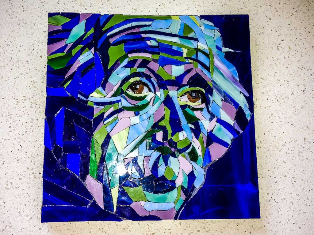 Einstein stained glass mosaic