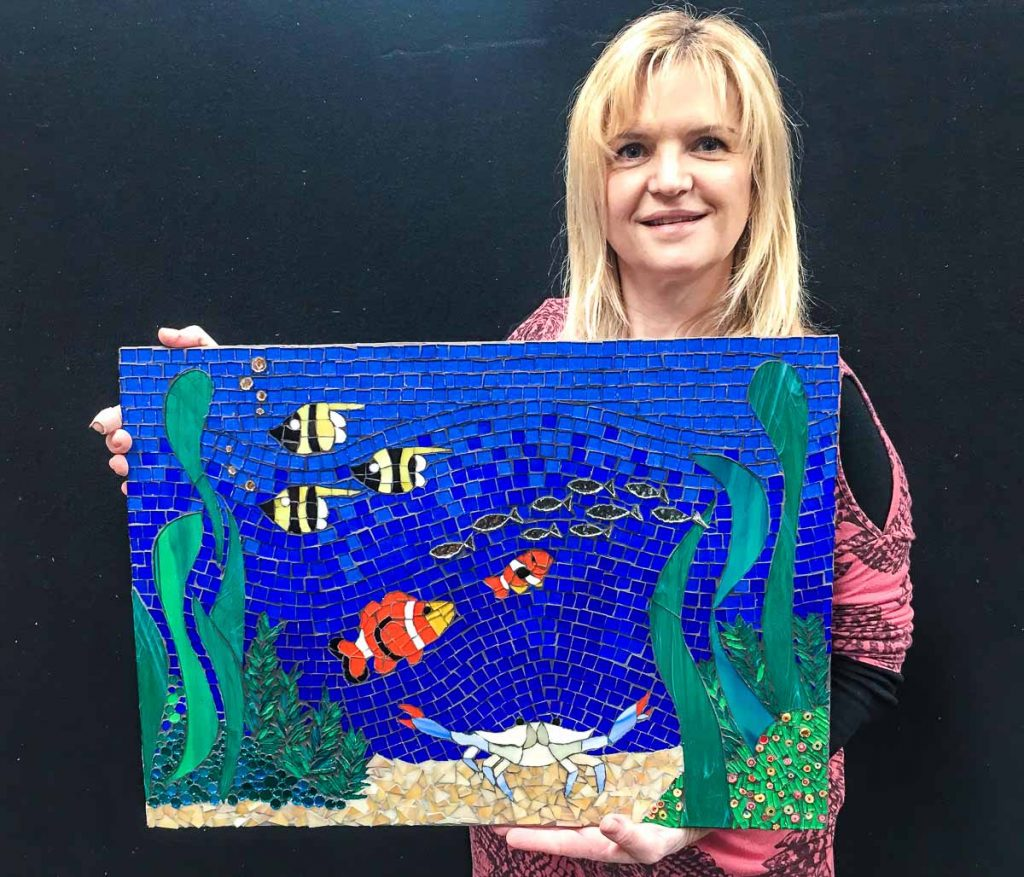 Enza Equizi's first mosaic