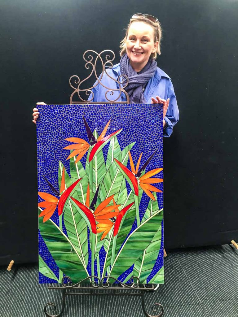 Bird of Paradise. Bernadette Armour's first mosaic