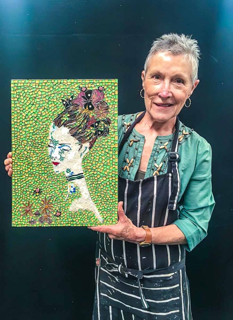Janice Adams and her portrait