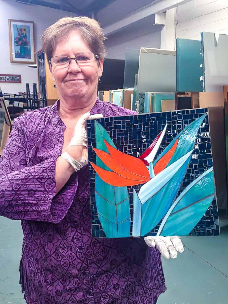 Jill Dall's Bird of Paradise mosaic