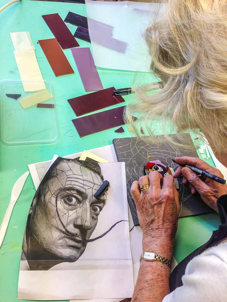 Sophie Dessons working on Salvador Dali