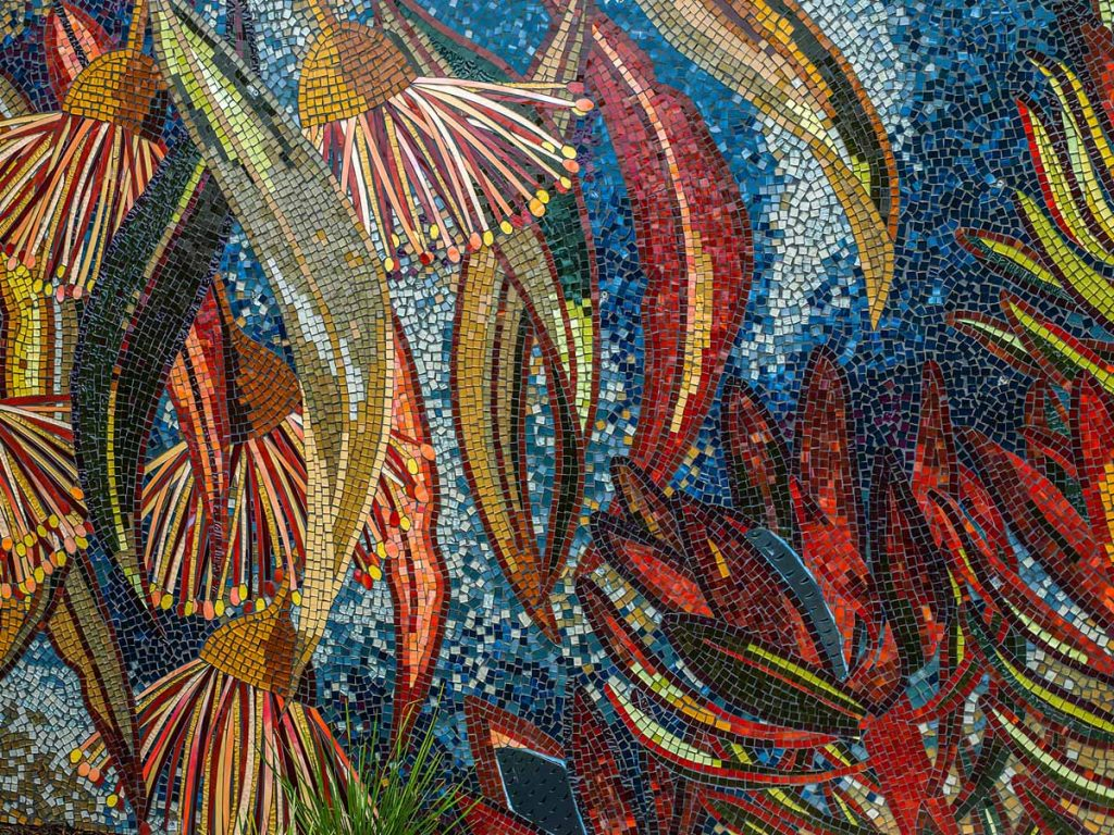 Leucadendron and Gum Nut Mosaic